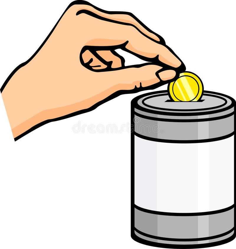 Mão que dá uma doação ilustração royalty free