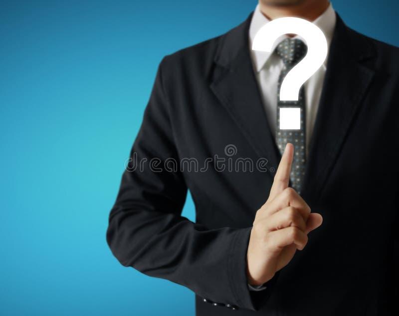 Mão que empurra em uma relação da tela de toque ilustração royalty free