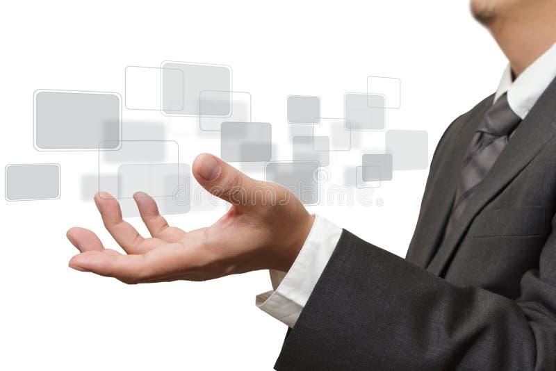 Download Mão Que Empurra A Relação Da Tela Do Ontouch Foto de Stock - Imagem de elevado, tecla: 26520128