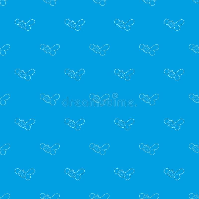 Mão que guarda o azul sem emenda do vetor do teste padrão do peso ilustração do vetor