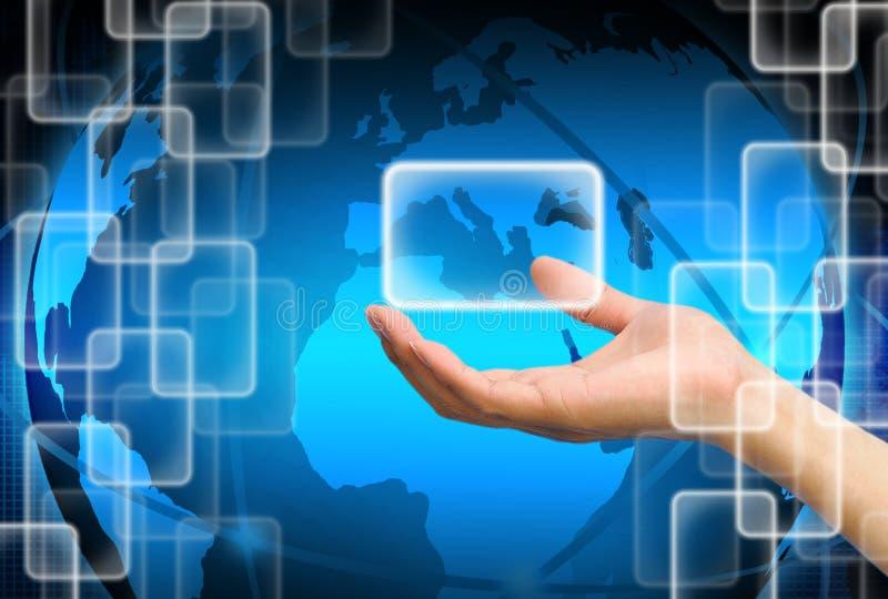 Download Mão Que Guardara Sobre A Tecnologia Ilustração Stock - Ilustração de punho, pessoa: 29844706