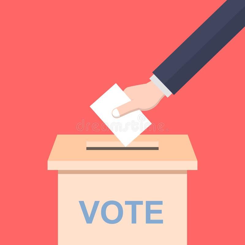 Mão que molda um voto ilustração do vetor