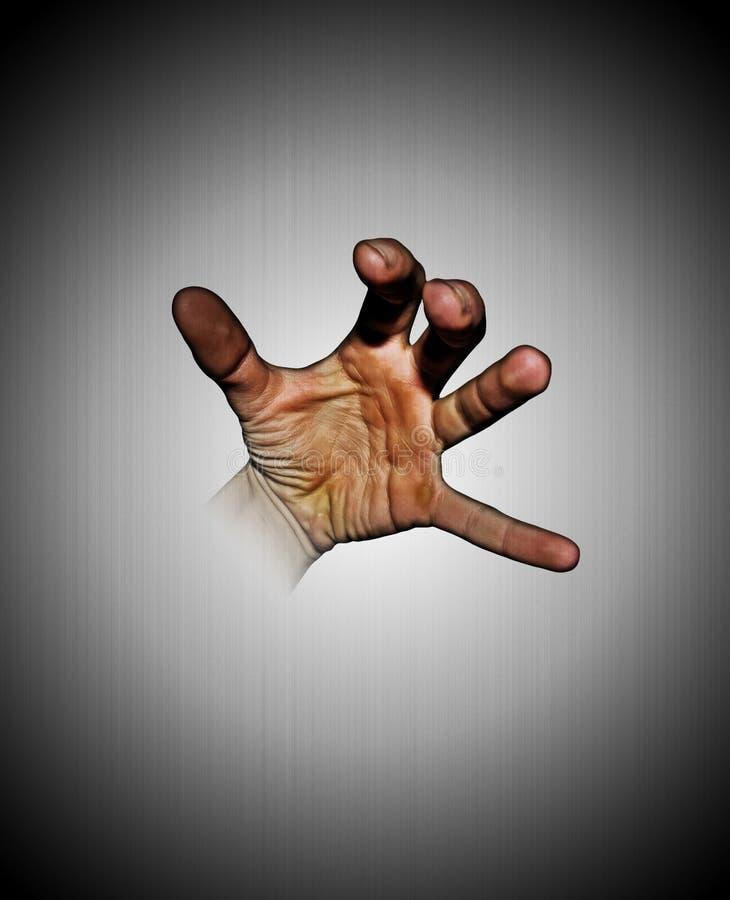 Mão que move-se da tela fotografia de stock royalty free