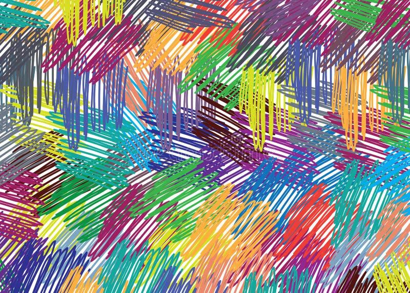 Mão que tira o teste padrão colorido imagens de stock