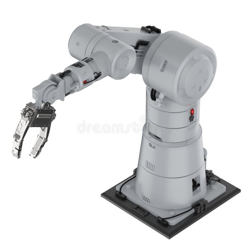 Mão robótico do braço ou do robô ilustração do vetor