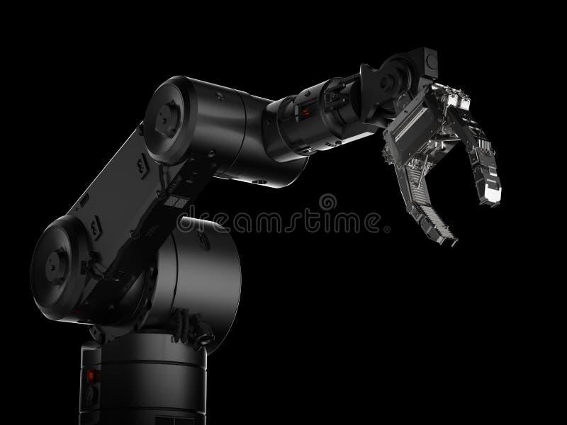 Mão robótico do braço ou do robô ilustração stock