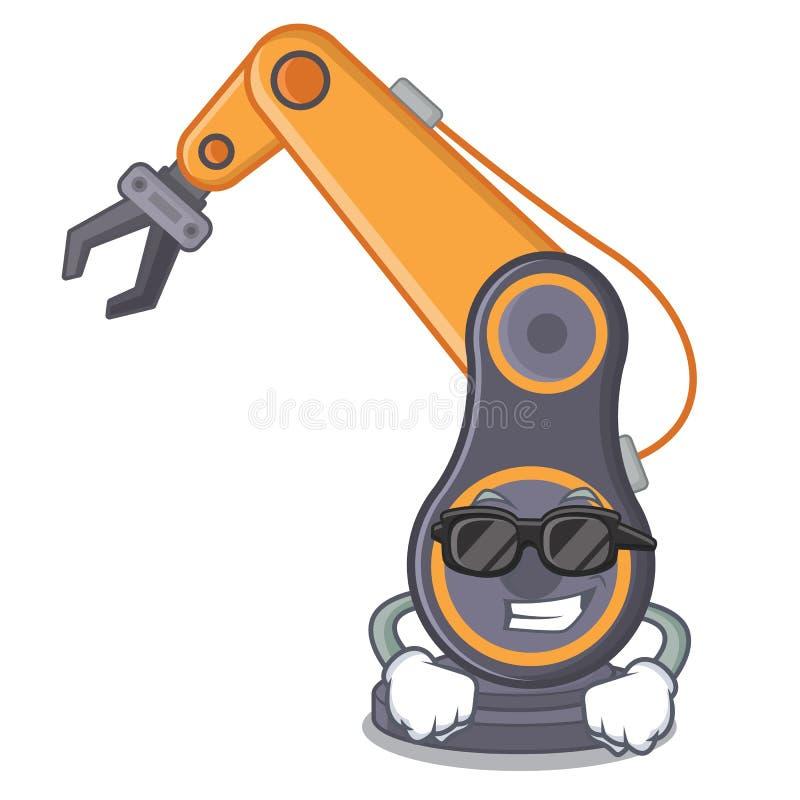 Mão robótico industrial do brinquedo fresco super o cratoon da ilustração royalty free