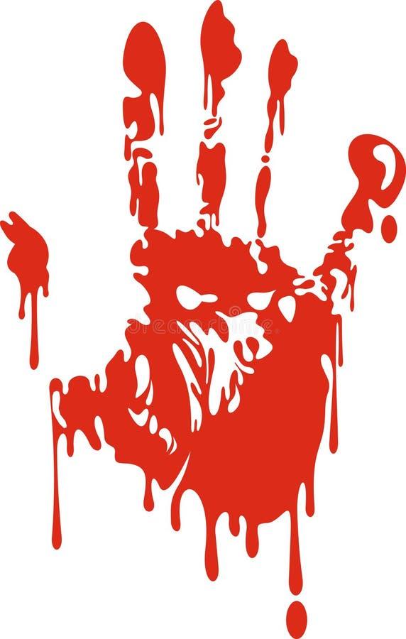 Mão sangrenta ilustração do vetor