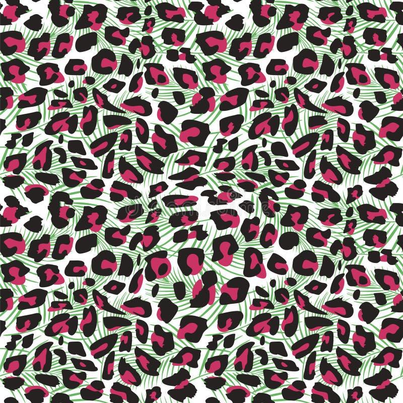 Mão sem emenda tamanco tirado da pele do jaguar Tribal exótico animal da ilustração do vetor para o envolvimento da cópia e da te ilustração do vetor
