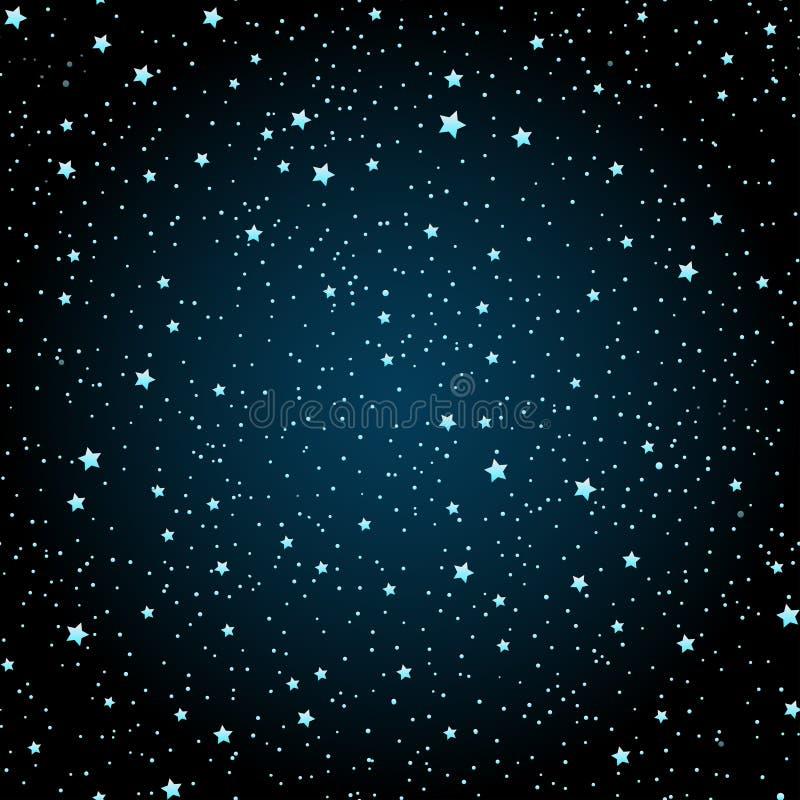 Mão sem emenda teste padrão tirado com céu noturno com estrelas natureza ou ilustração royalty free