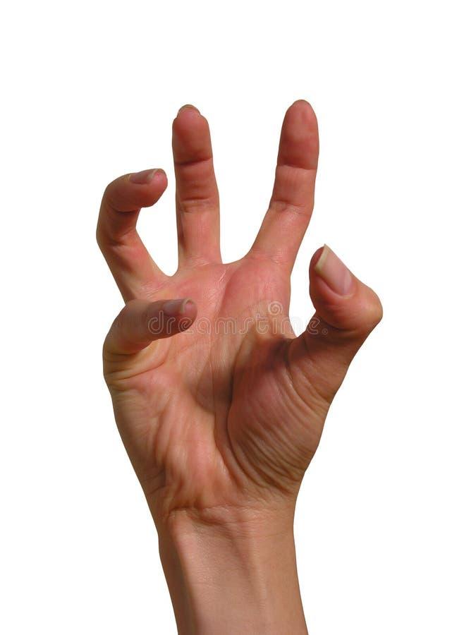Mão terrificada foto de stock royalty free