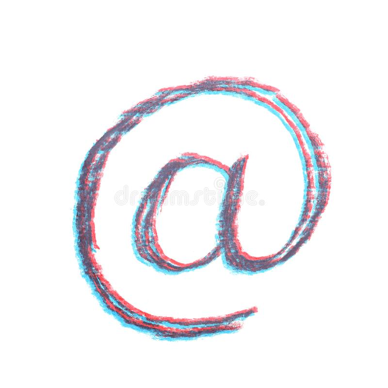 Mão tirada no símbolo isolado imagem de stock