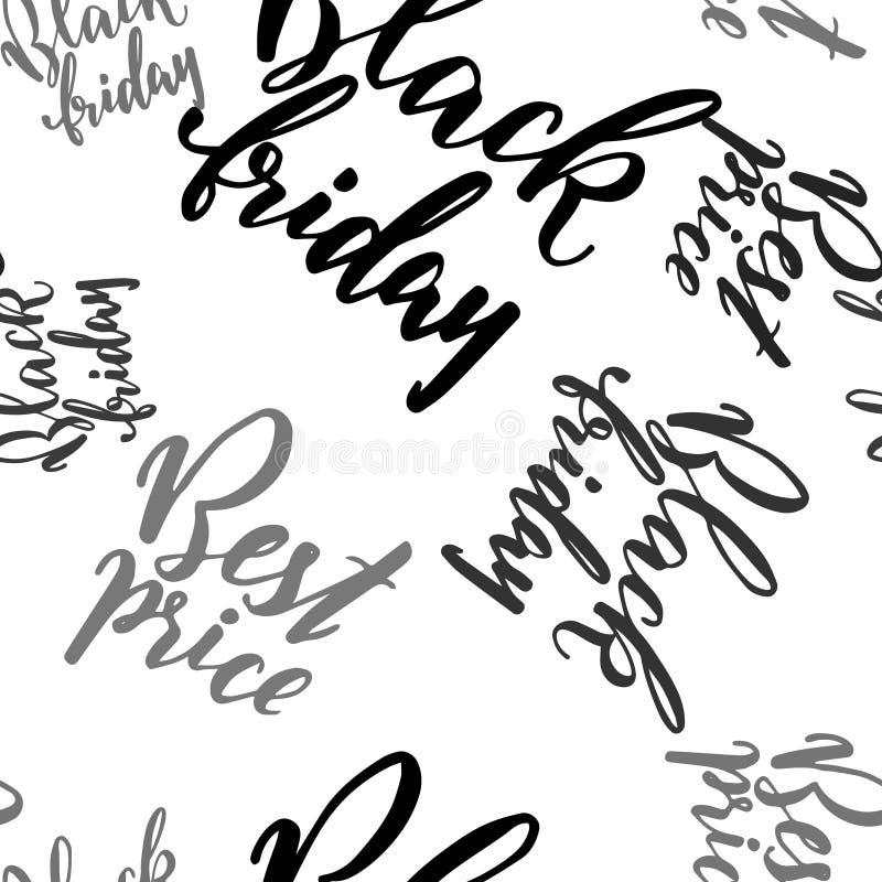 Mão tirada rotulando o promo para Black Friday ilustração royalty free