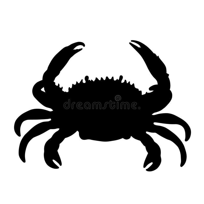 Mão tirada, vetor do eps do vetor do caranguejo, Eps, logotipo, ícone, crafteroks, ilustração da silhueta para usos diferentes ilustração do vetor