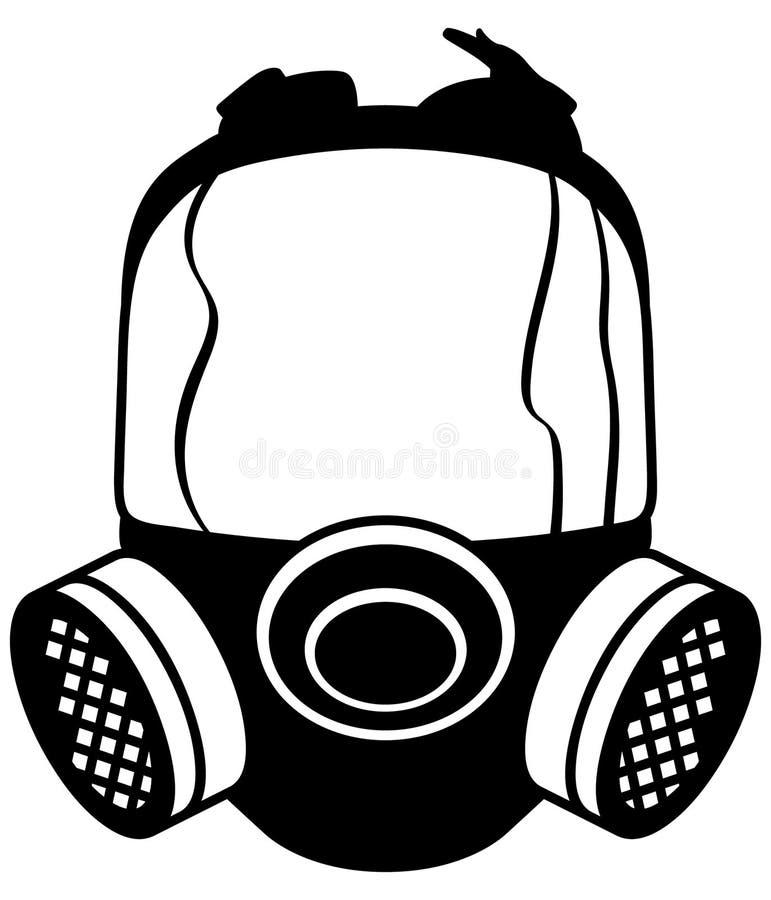 Mão tirada, vetor do eps do vetor da máscara de gás, Eps, logotipo, ícone, crafteroks, ilustração da silhueta para usos diferente ilustração stock