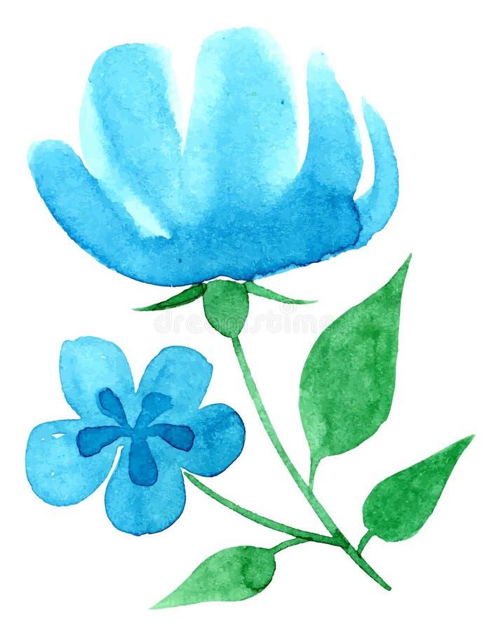 Mão Vectorized da aquarela que tira o tema floral ilustração stock