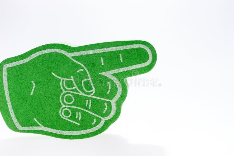 Mão verde com o indicador prolongado fotos de stock royalty free