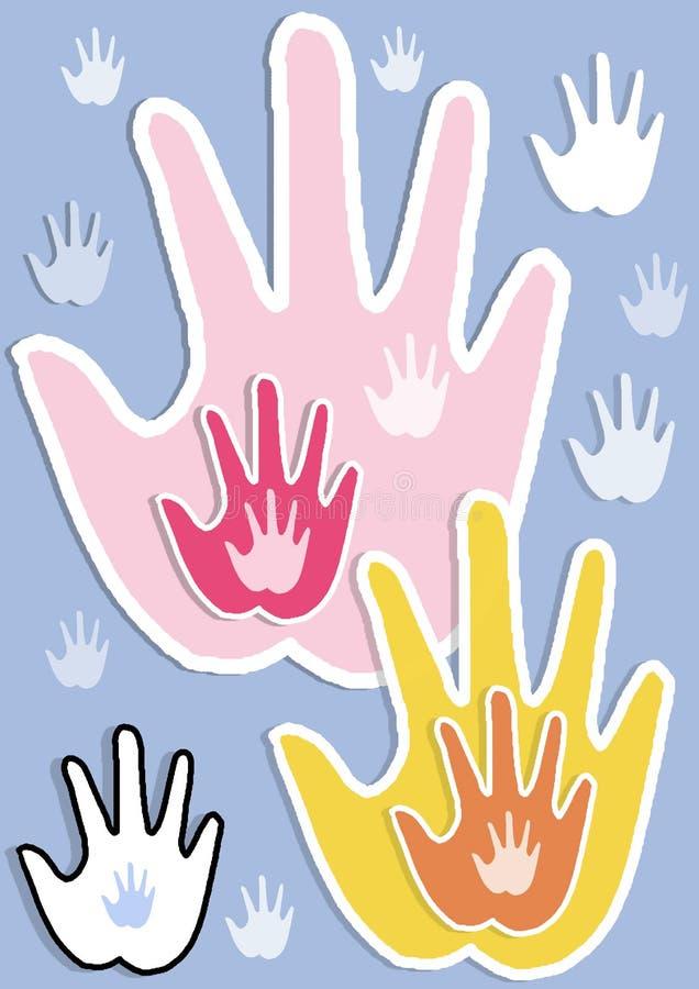 Mãos úteis ilustração stock