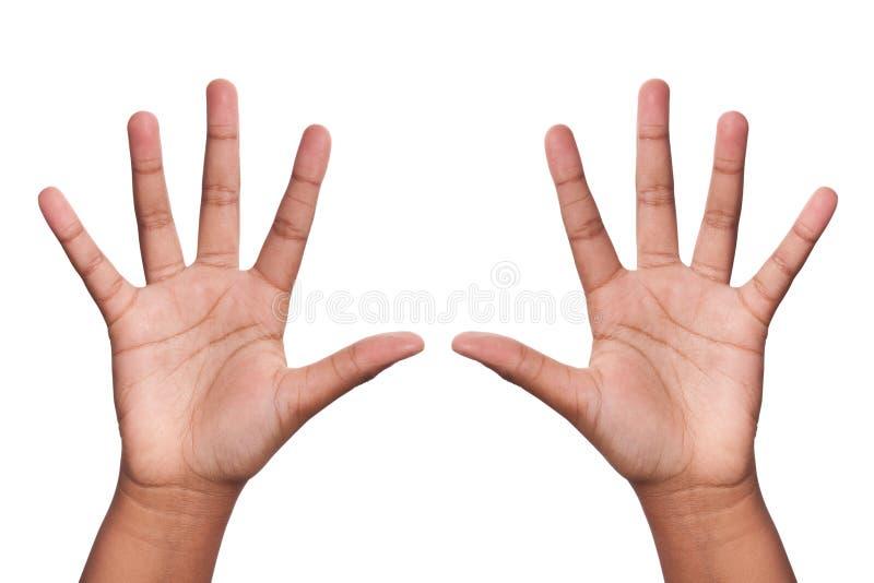 Mãos acima imagens de stock
