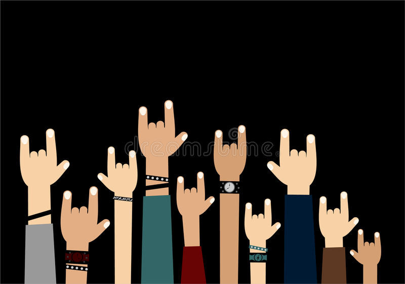 Mãos acima ilustração do vetor