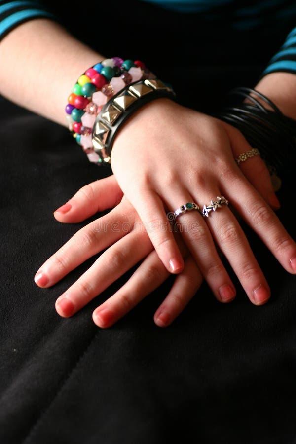 Mãos adolescentes imagem de stock royalty free