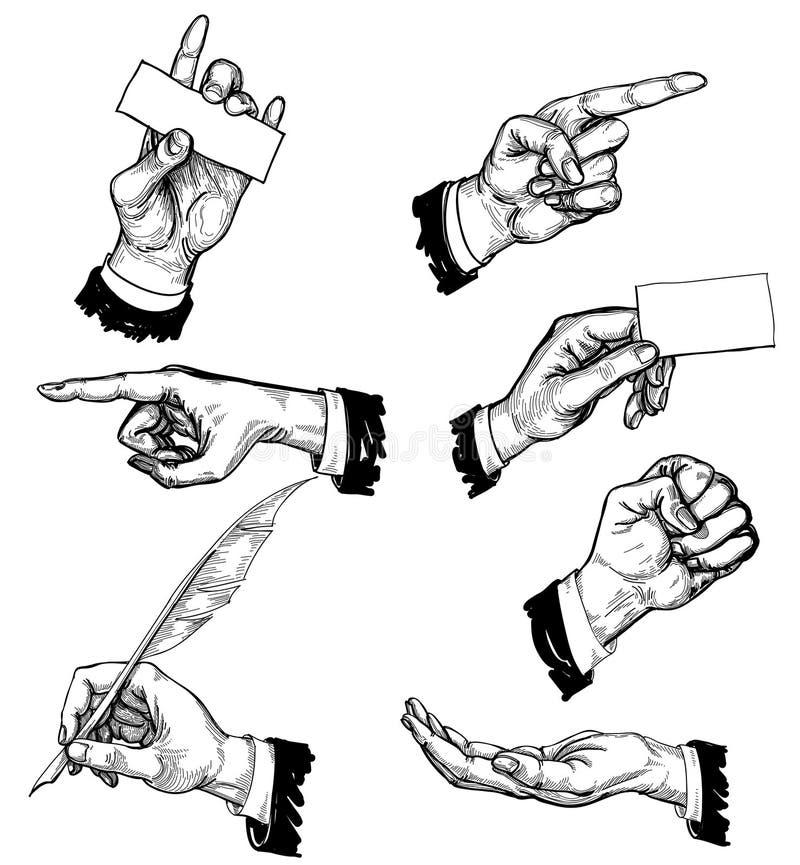 Mãos ajustadas ilustração royalty free