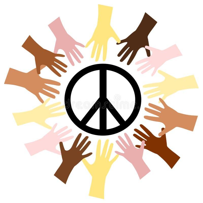 Mãos & paz ilustração do vetor