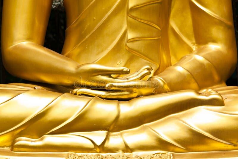 Mãos budistas da estátua fotografia de stock royalty free