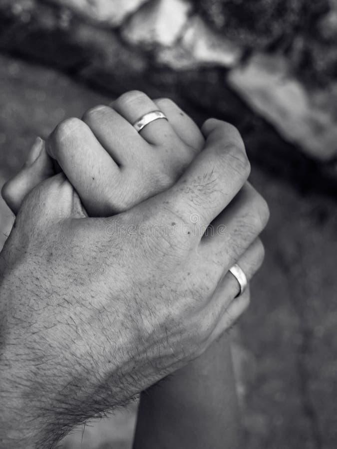 Mãos casadas imagem de stock royalty free