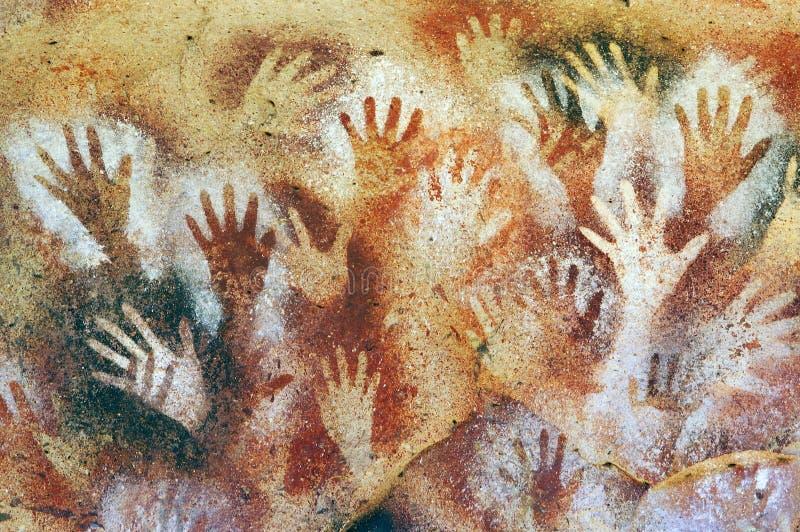 Mãos caverna, Santa Cruz, Patagonia Argentina foto de stock royalty free