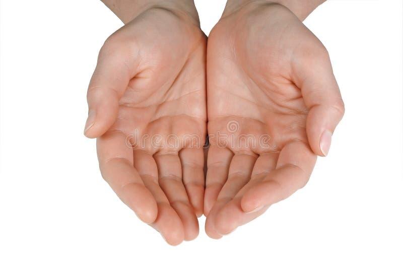 Mãos (com trajeto de grampeamento) imagens de stock