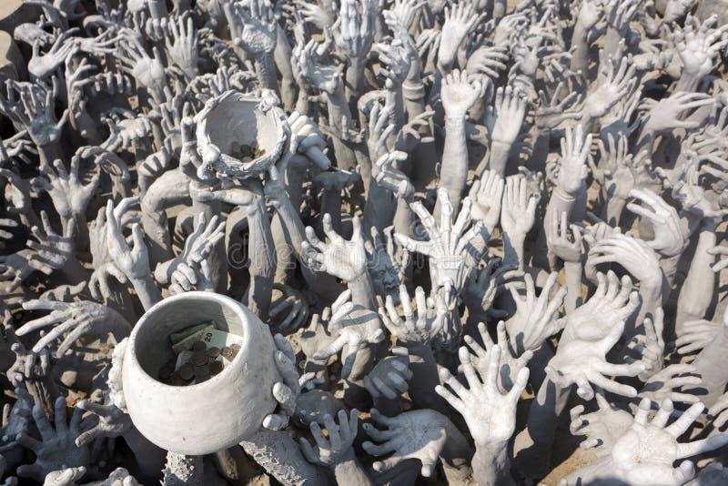 Mãos da caridade fotos de stock