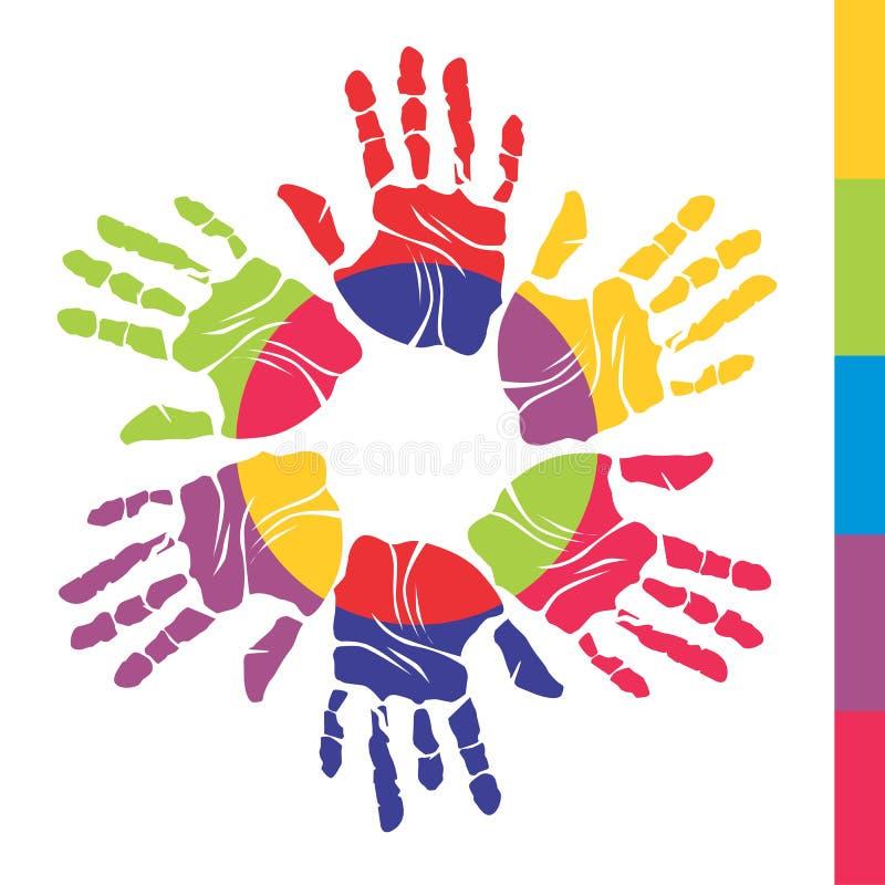 Mãos da cor imagem de stock