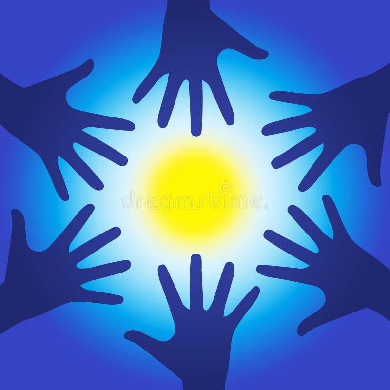 Mãos da energia da cura