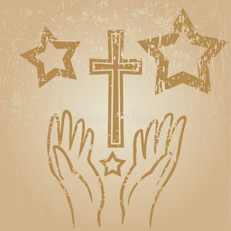 Mãos da fé ilustração stock