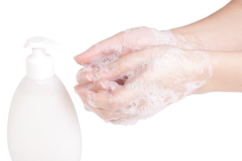Mãos da lavagem foto de stock