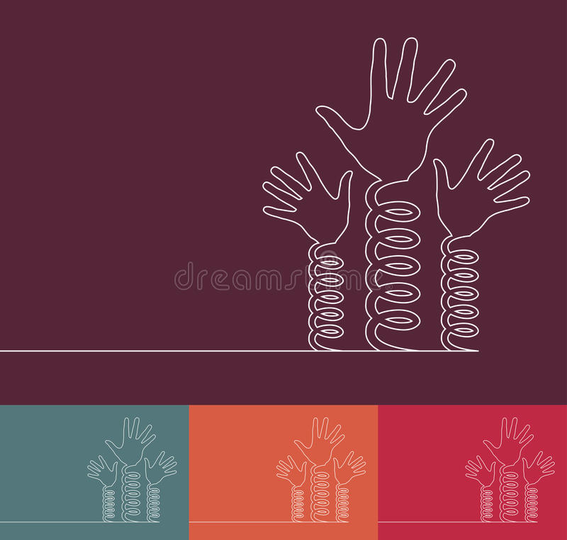 Mãos da mola de bobina. ilustração royalty free