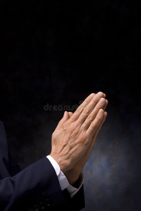 Mãos da oração imagem de stock