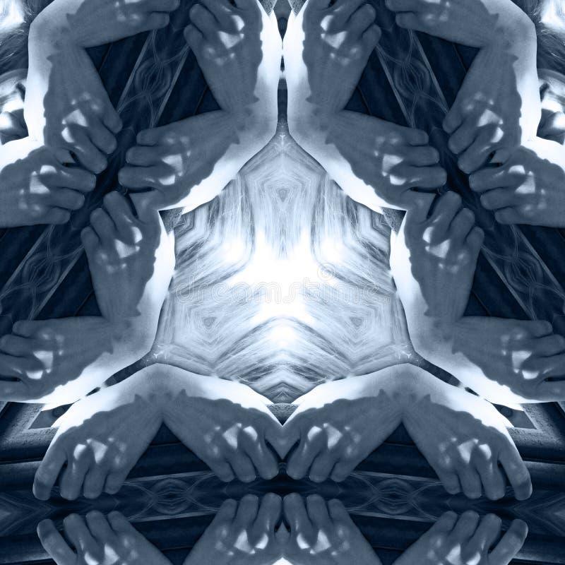 Mãos de agarramento Mystical   ilustração do vetor