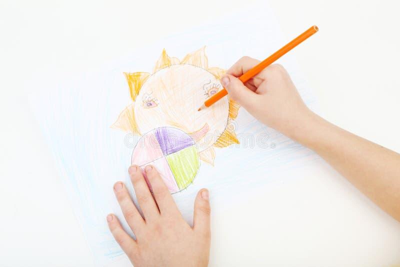 Mãos de Childs imagem de stock