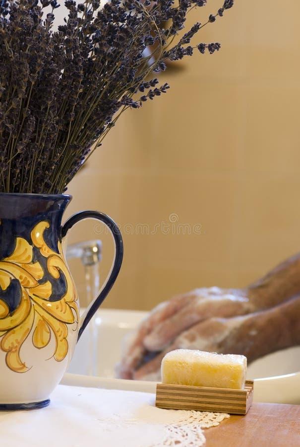 Mãos de lavagem fotografia de stock