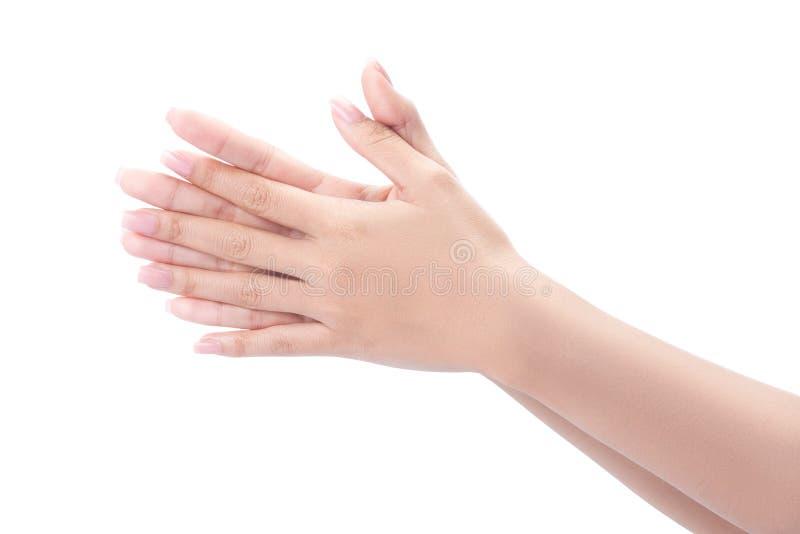 Mãos de lavagem do gesto imagem de stock