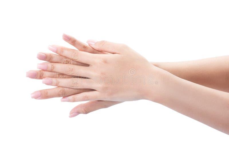 Mãos de lavagem do gesto fotografia de stock