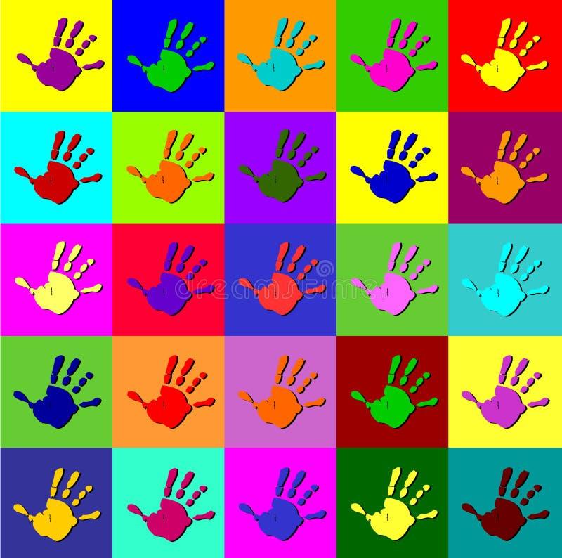 Mãos de Warhol ilustração stock
