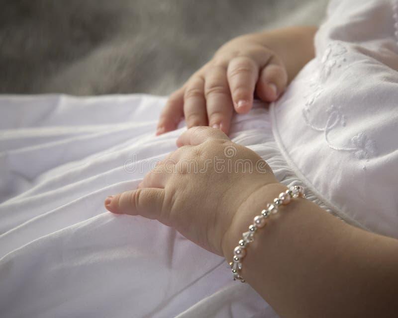 Mãos do bebê fotografia de stock