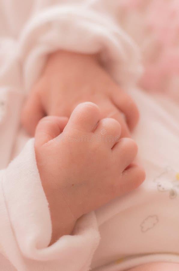 Mãos do bebê imagem de stock