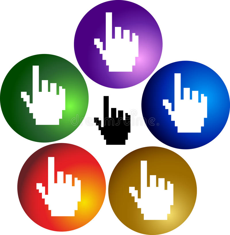 Mãos do clique ilustração stock
