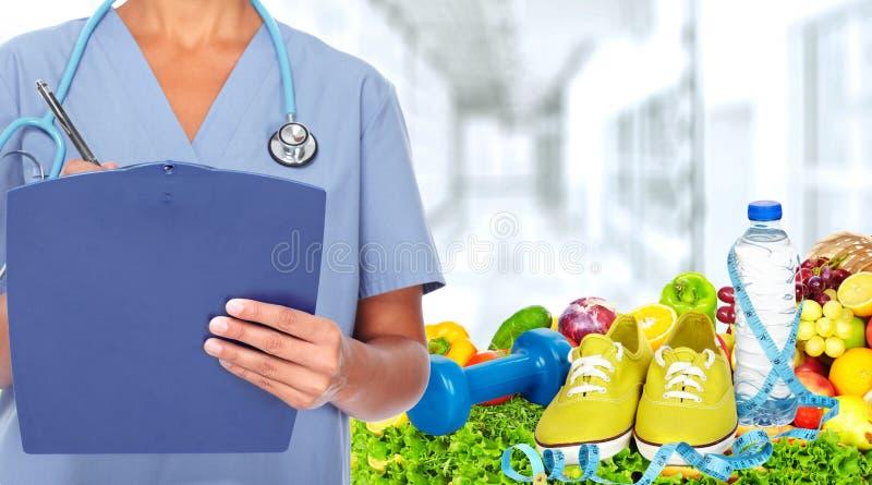 Mãos do doutor fotografia de stock