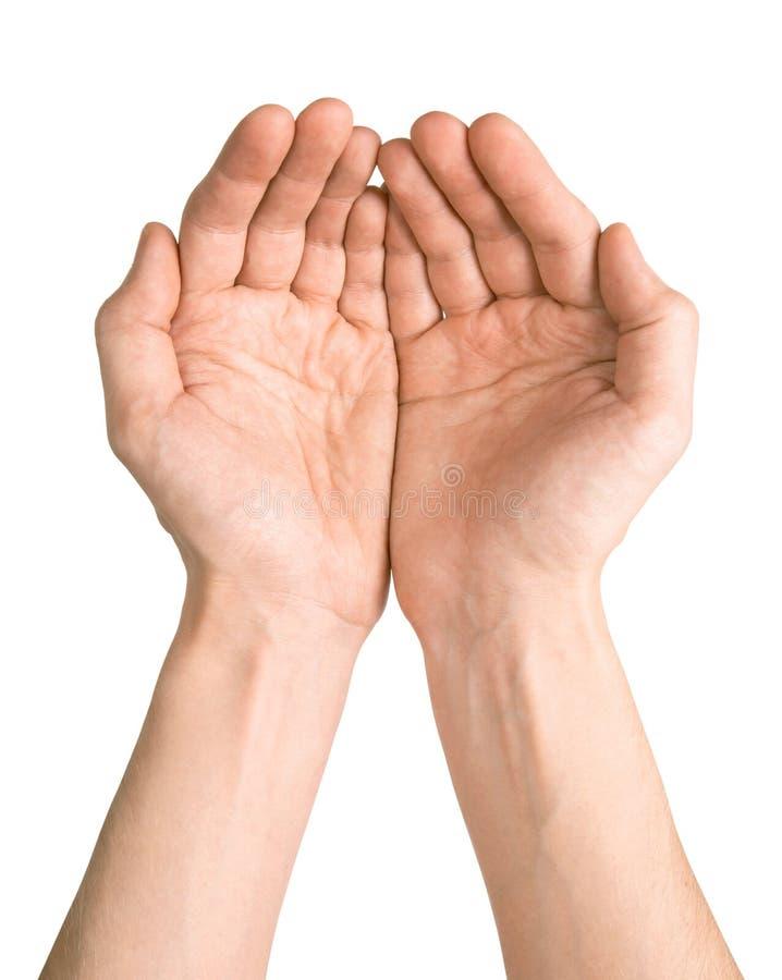 Mãos do homem foto de stock
