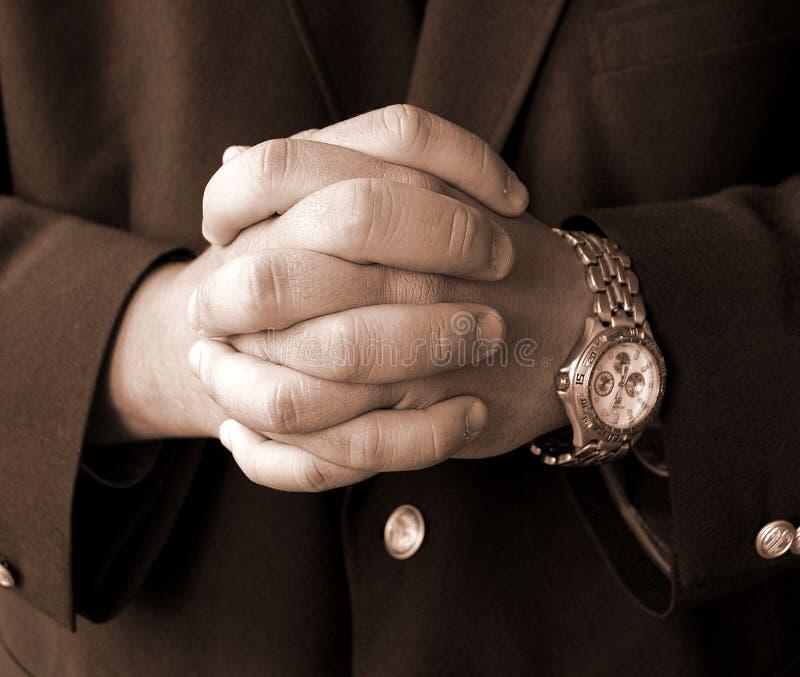 Mãos do homem de negócios